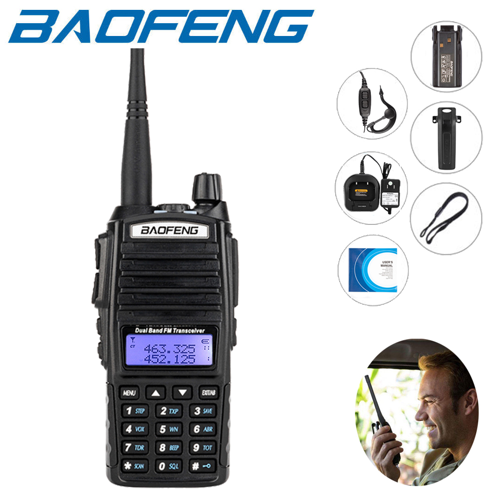 48911ac39 2x Baofeng UV-82 Dual-Band Walkie Talkie Two Way Radio V UHF 136-174 400 -520MHz