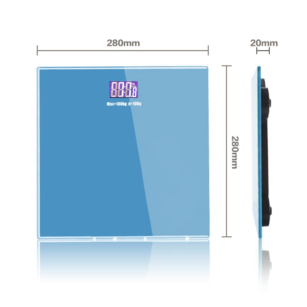 Detalles acerca de 400lb digital escala de peso corporal Baño Fitness  retroiluminada LCD Display + 2 Baterías- mostrar título original