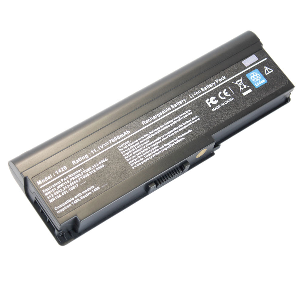 9 cell laptop battery for dell inspiron 1420 vostro 1400 mn151 ebay. Black Bedroom Furniture Sets. Home Design Ideas