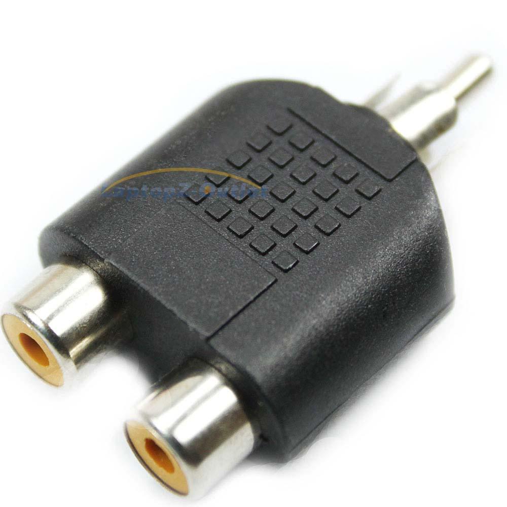Rca Connector Splitter : Rca y splitter av audio video plug converter male to